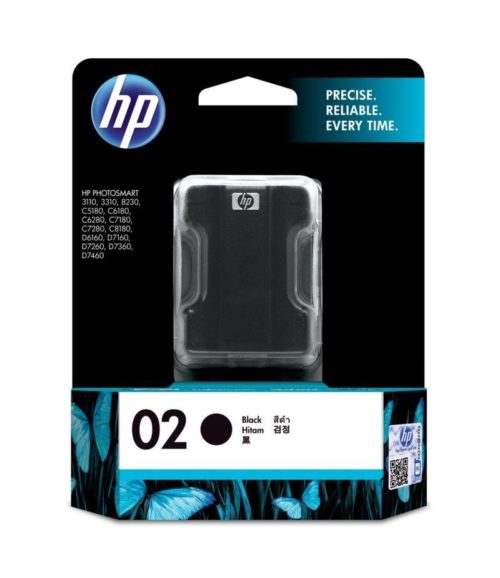 HP 02 Black Original Ink Cartridge