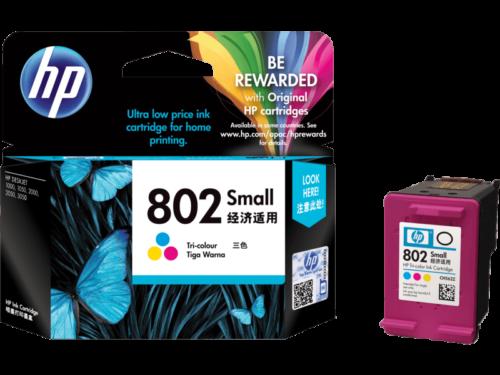 HP 802 Small Tri-color Original Ink Cartridge